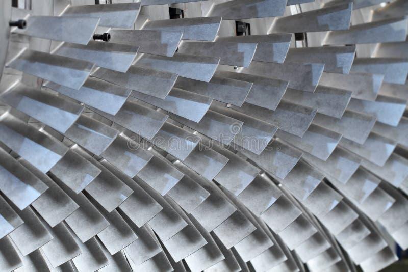 Lâminas de rotor da turbina fotos de stock royalty free