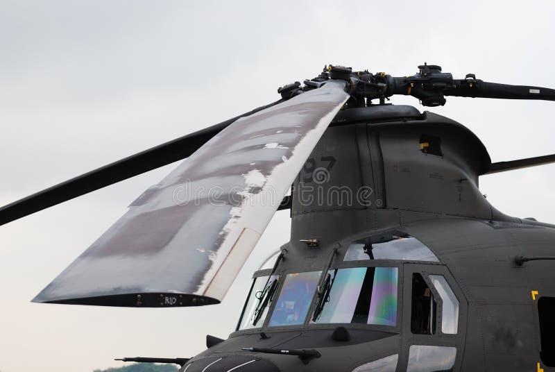 Lâminas de rotor do helicóptero fotografia de stock royalty free