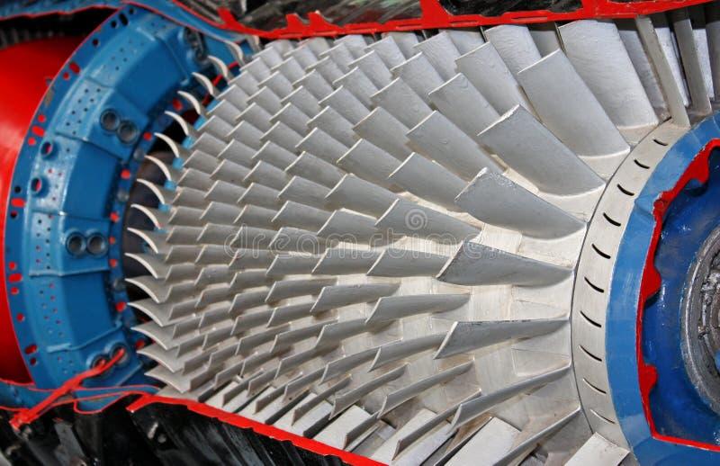 Lâminas de turbina. fotografia de stock royalty free