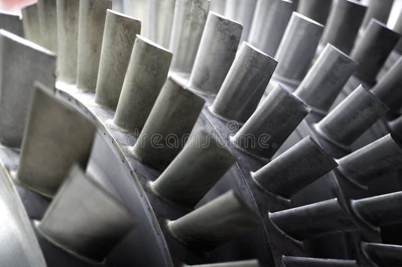 Lâminas de um motor de jato foto de stock royalty free