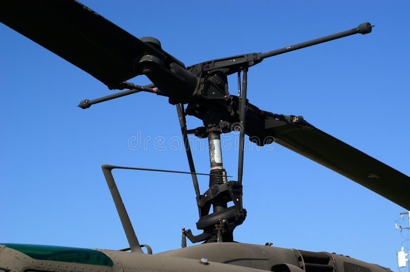Lâminas Do Helicóptero Fotografia de Stock