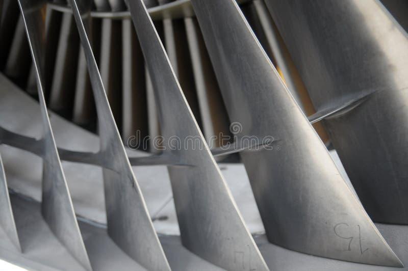 Lâminas do motor de jato fotos de stock royalty free