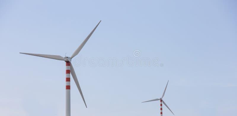 Lâminas do vento em montes doces fotos de stock