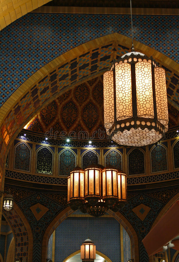 Lâmpada árabe do teto imagens de stock royalty free