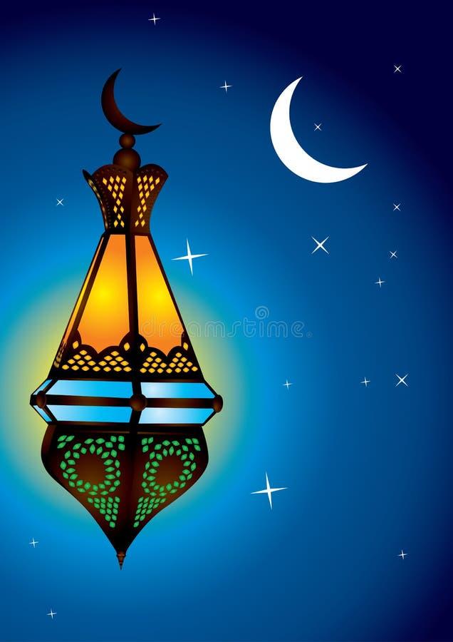 Lâmpada árabe intricada ilustração stock