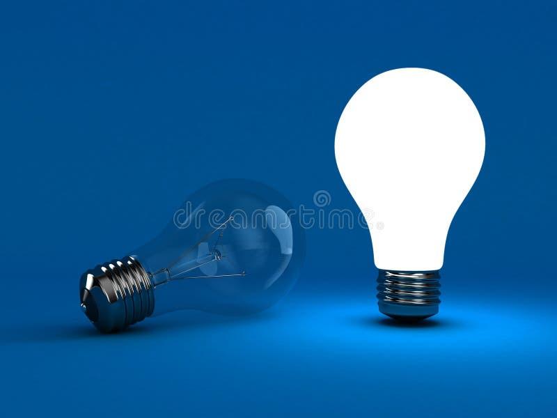 A lâmpada ilustração do vetor