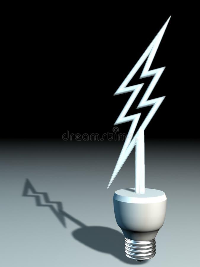 lâmpada 3D abstrata ilustração royalty free