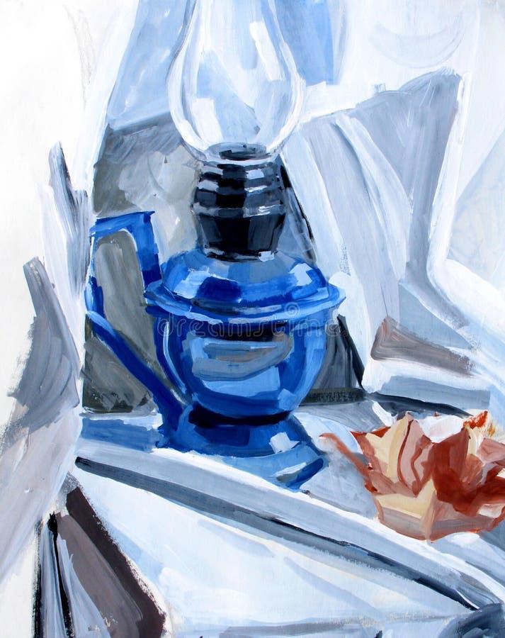Lâmpada azul ilustração stock