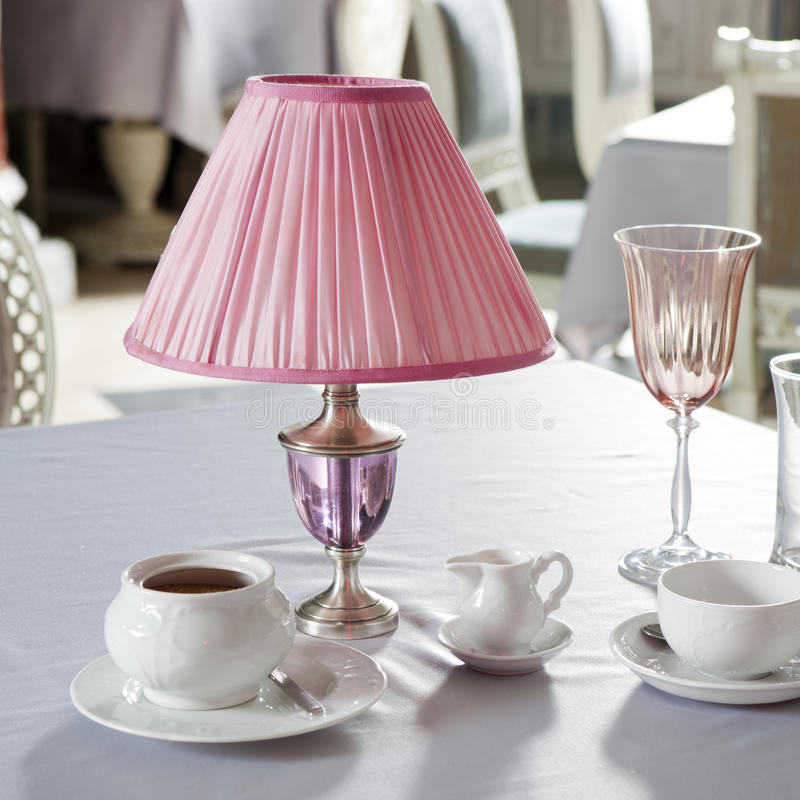 Lâmpada cor-de-rosa imagem de stock royalty free