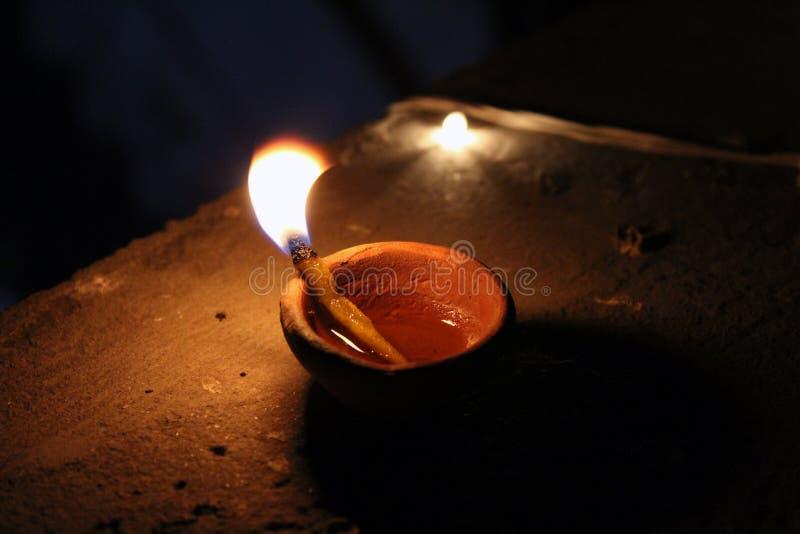 Lâmpada da decoração de Diwali, luz de lâmpada imagem de stock royalty free