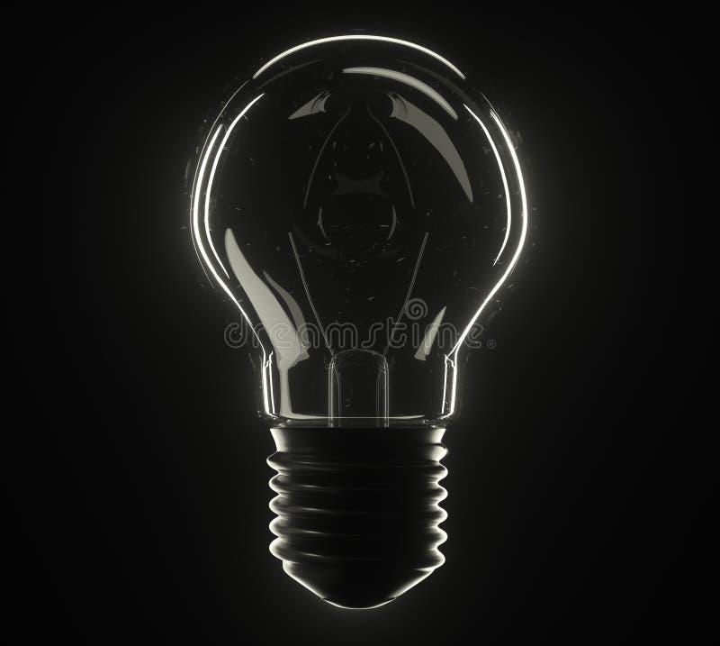 lâmpada da ilustração 3d imagem de stock royalty free