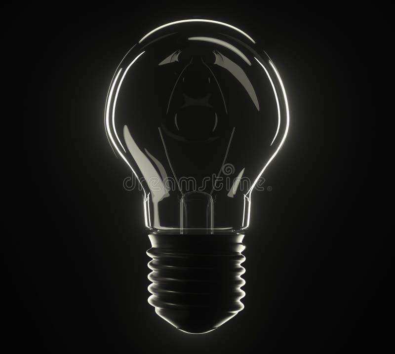 lâmpada da ilustração 3d foto de stock