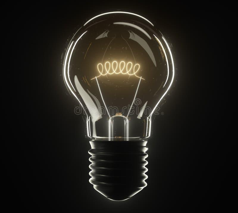lâmpada da ilustração 3d clássico fotografia de stock