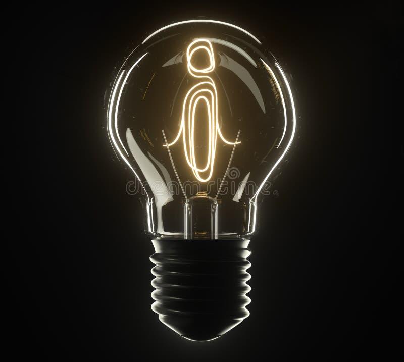 lâmpada da ilustração 3d Estrela imagens de stock royalty free