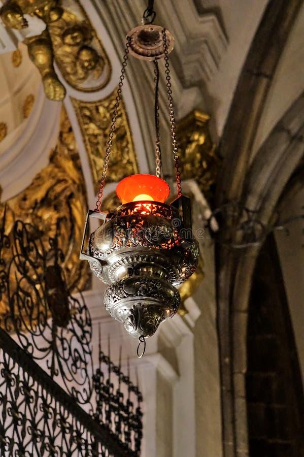Lâmpada da luz vermelha fotografia de stock