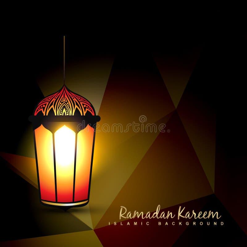 Lâmpada da ramadã ilustração do vetor