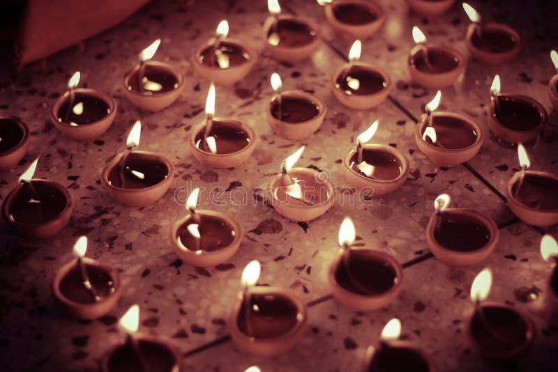 Lâmpada de óleo indiana tradicional, olhar retro fotografia de stock royalty free