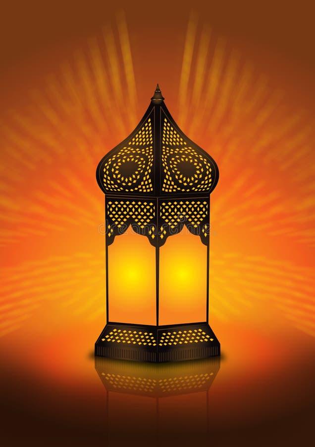 Lâmpada de assoalho árabe intricada ilustração do vetor