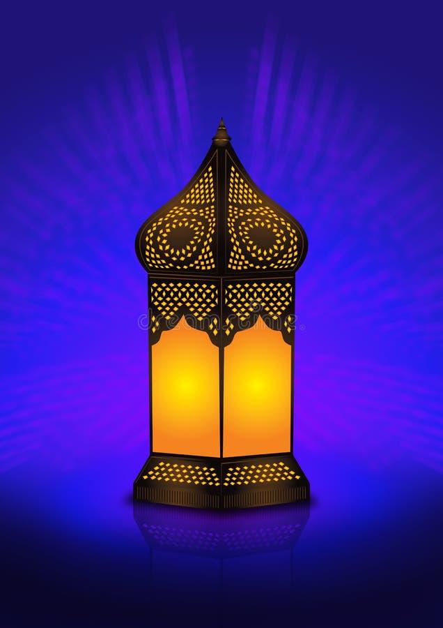 Lâmpada de assoalho árabe intricada ilustração royalty free