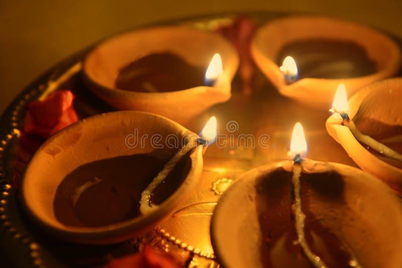Lâmpada de Diwali fotografia de stock royalty free