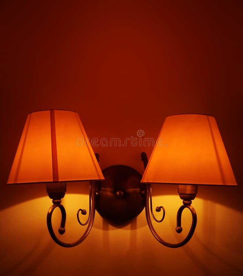Lâmpada de parede elegante foto de stock