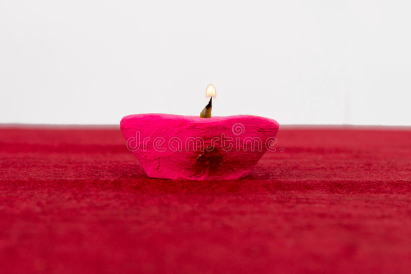 Lâmpada de petróleo de Diwali fotografia de stock