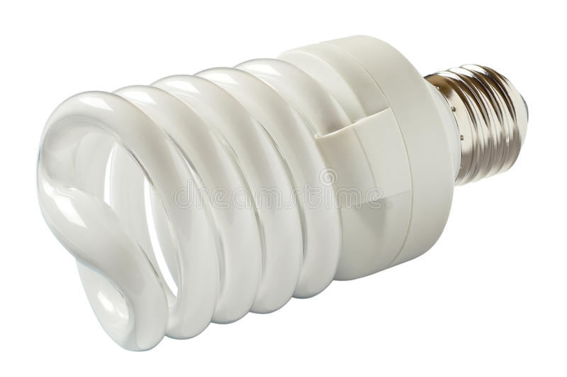 Lâmpada de poupança de energia. fotografia de stock royalty free