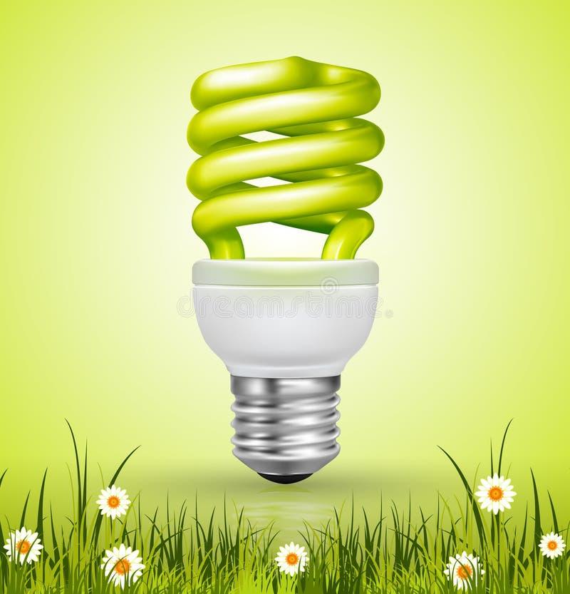 Lâmpada de poupança de energia ilustração do vetor