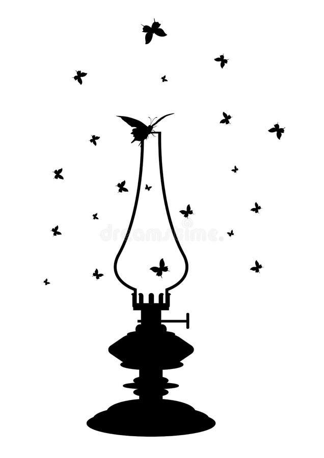 Lâmpada de querosene ilustração stock