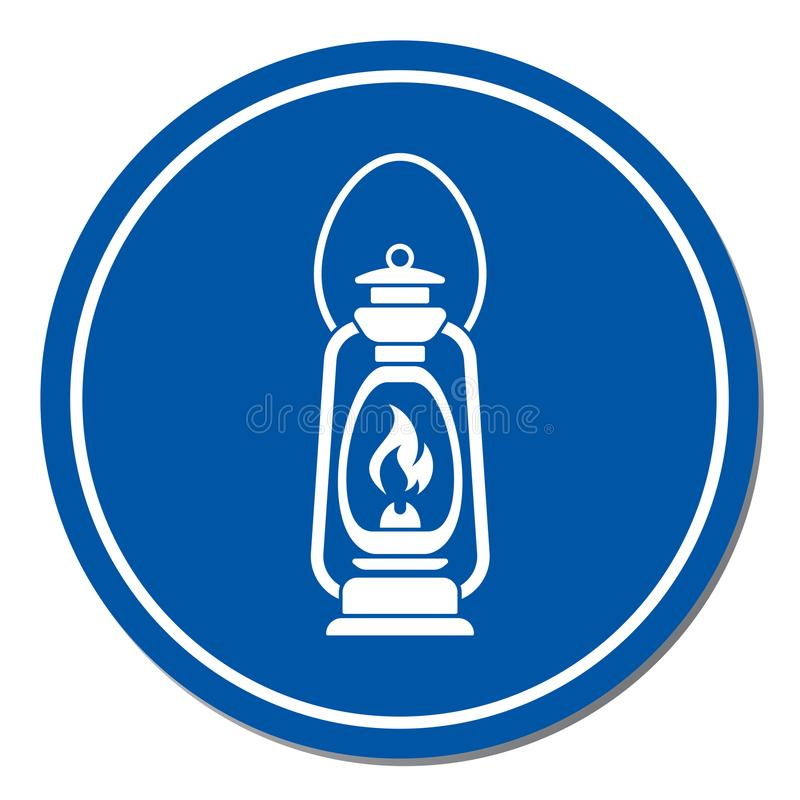 Lâmpada de querosene velha antiga isolada Projeto retro ilustração do vetor
