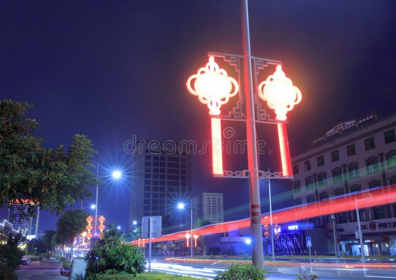 Lâmpada de rua chinesa do nó, adôbe rgb imagem de stock royalty free