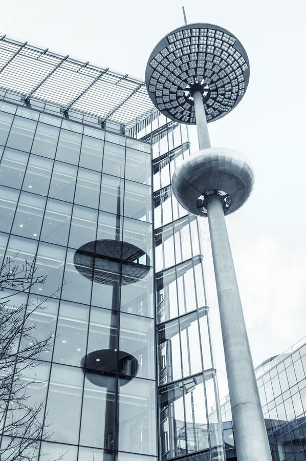 Lâmpada de rua moderna em Londres fotos de stock