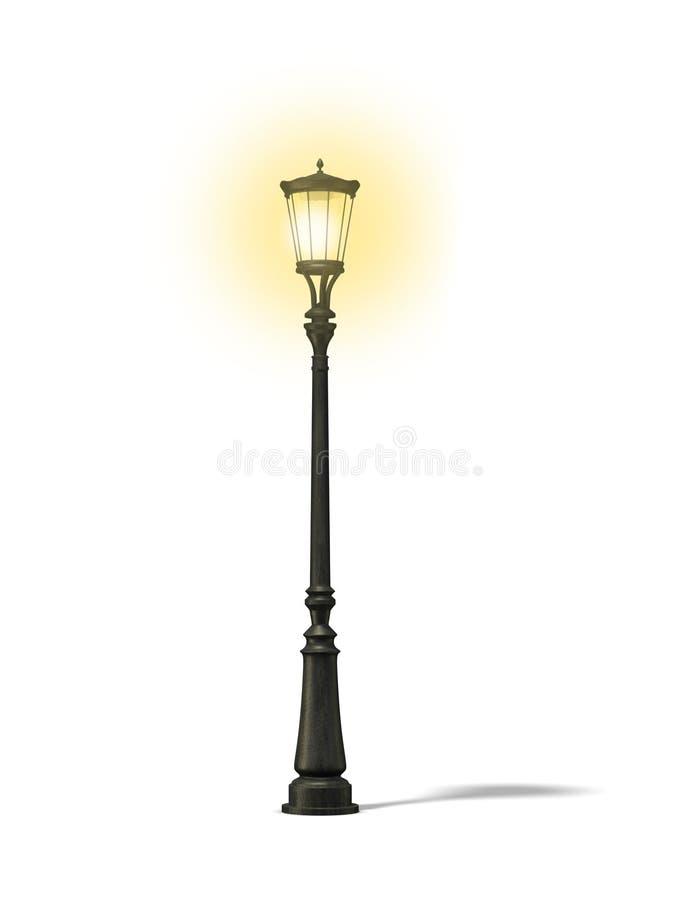 Lâmpada de rua velha ilustração royalty free