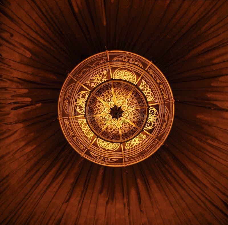 Lâmpada decorativa do teto foto de stock
