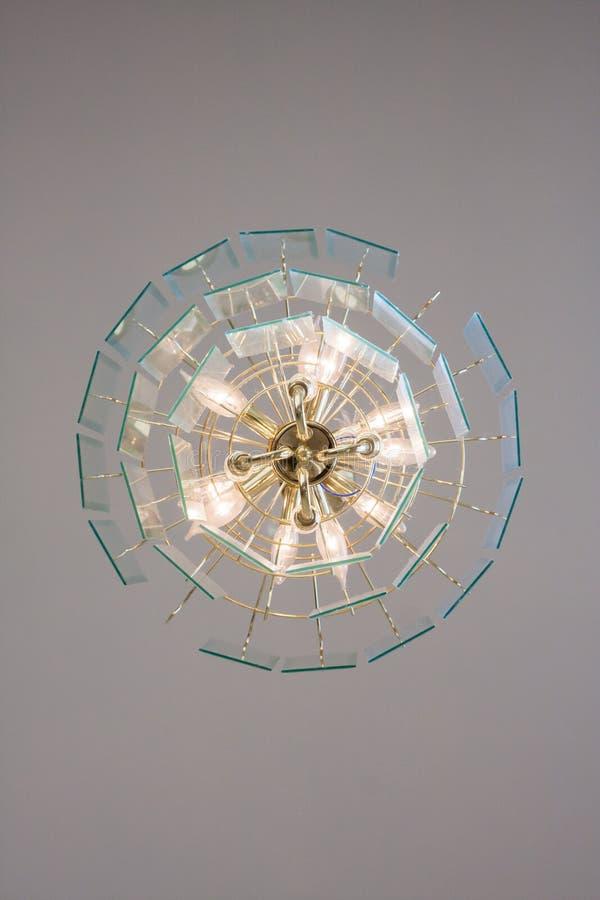 Lâmpada do candelabro da parte inferior fotografia de stock royalty free
