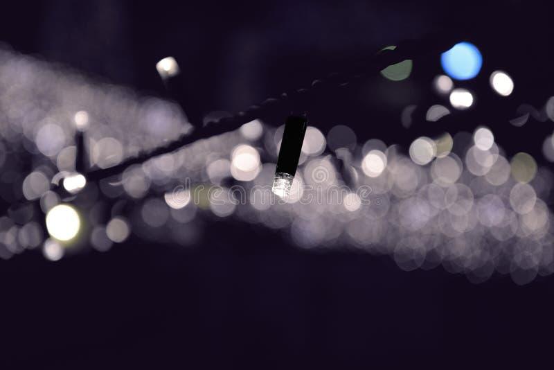 Lâmpada do festão da corrente de iluminação foto de stock