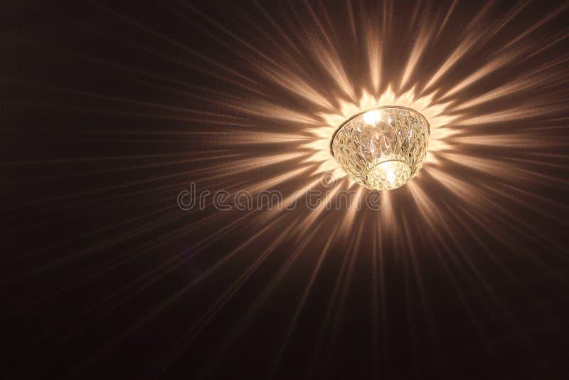 Lâmpada do halogênio no teto foto de stock royalty free