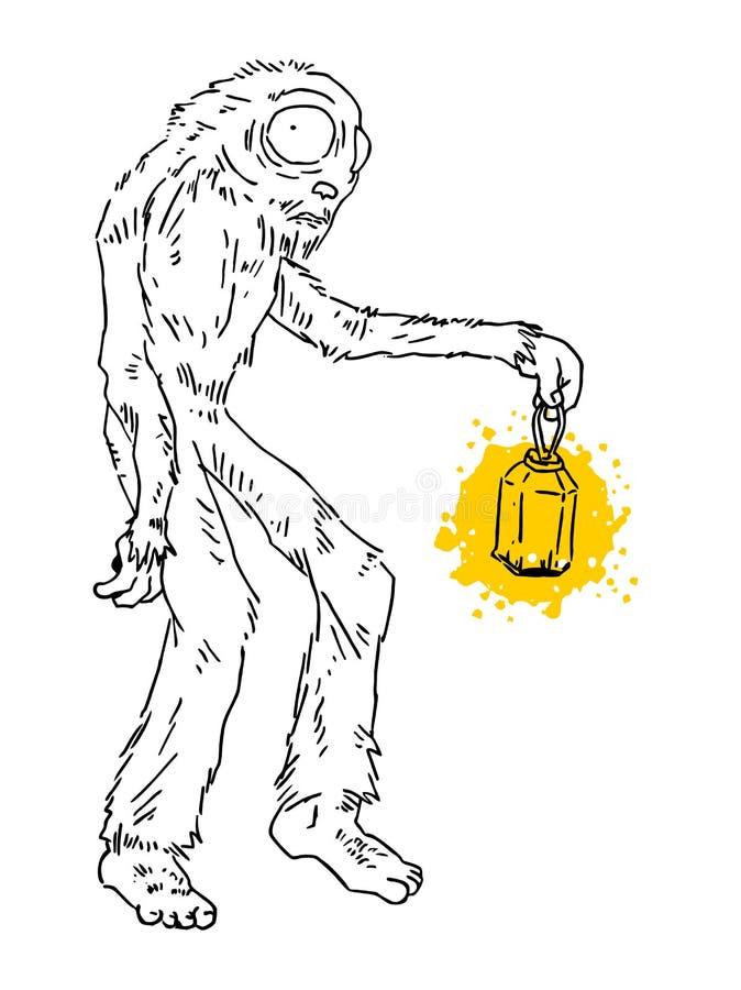 Lâmpada do monstro ilustração royalty free