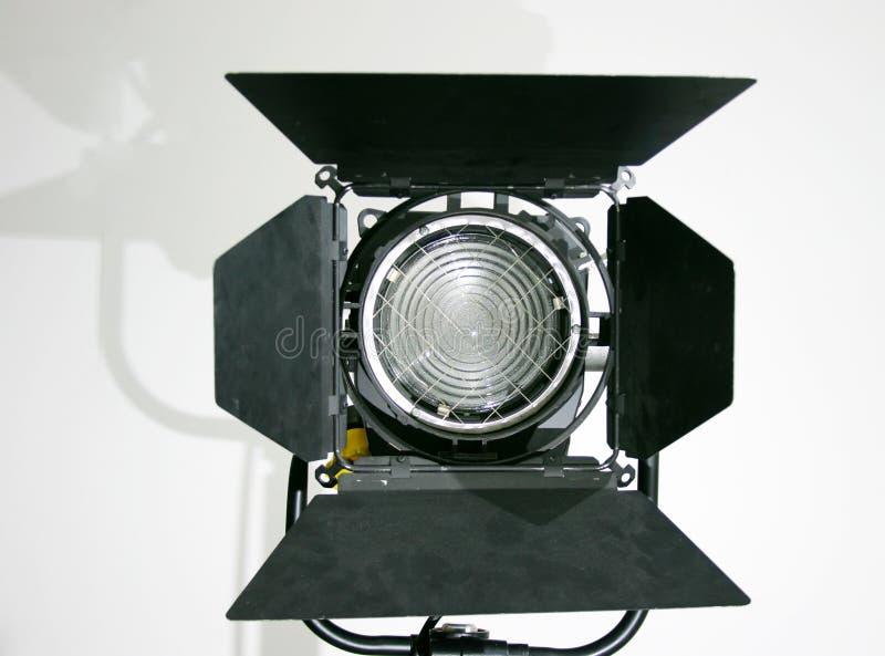 Lâmpada do ponto de Fresnel do estúdio fotografia de stock royalty free