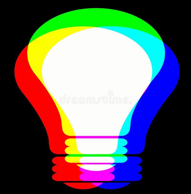 Lâmpada do RGB ilustração stock