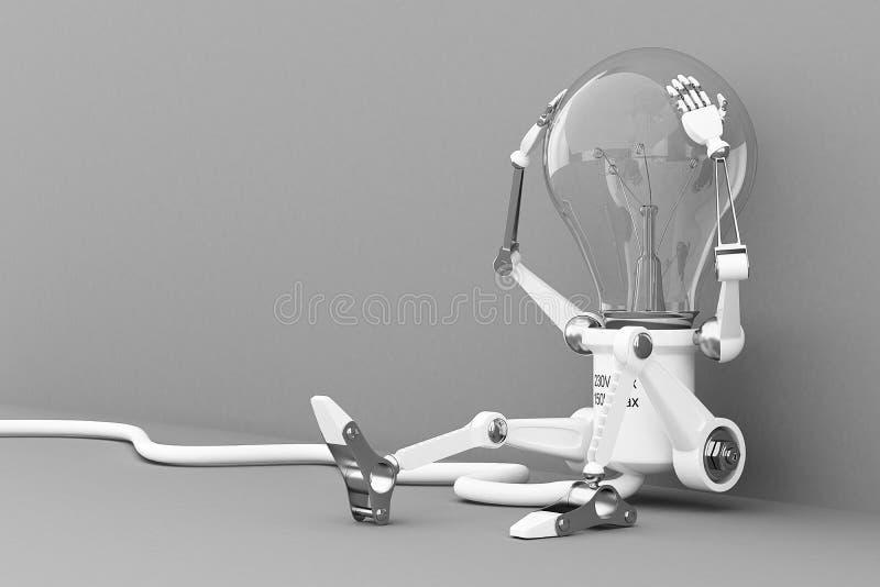 Lâmpada do robô ilustração do vetor