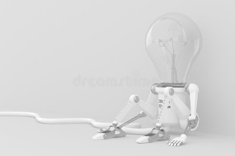 Lâmpada do robô do personagem ilustração do vetor