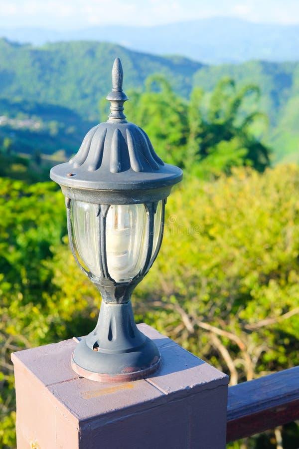 Lâmpada do vintage em Doi Mae Salong Chiang Rai Thailand foto de stock royalty free