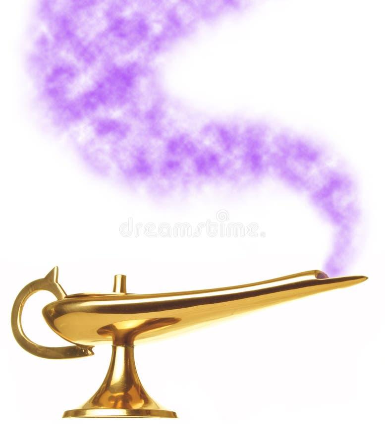 Lâmpada dos génios de Aladdin imagens de stock
