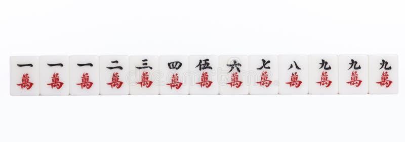 Lâmpada dos lótus de Mahjong nove fotos de stock royalty free