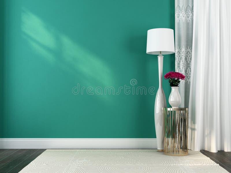 Lâmpada e decoração brancas de assoalho fotografia de stock royalty free