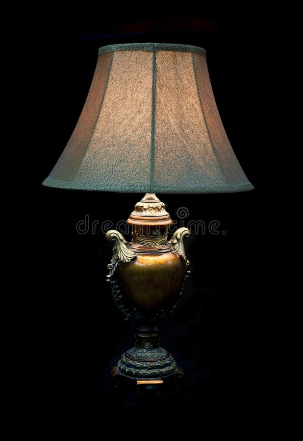 Lâmpada elétrica velha com máscara imagens de stock royalty free