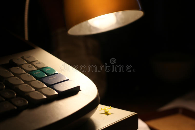 Lâmpada em a noite fotografia de stock