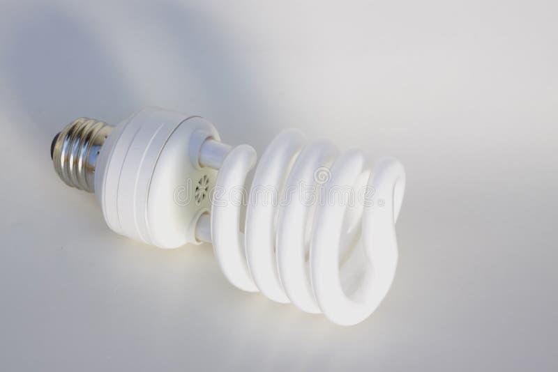 Lâmpada fluorescente compacta foto de stock