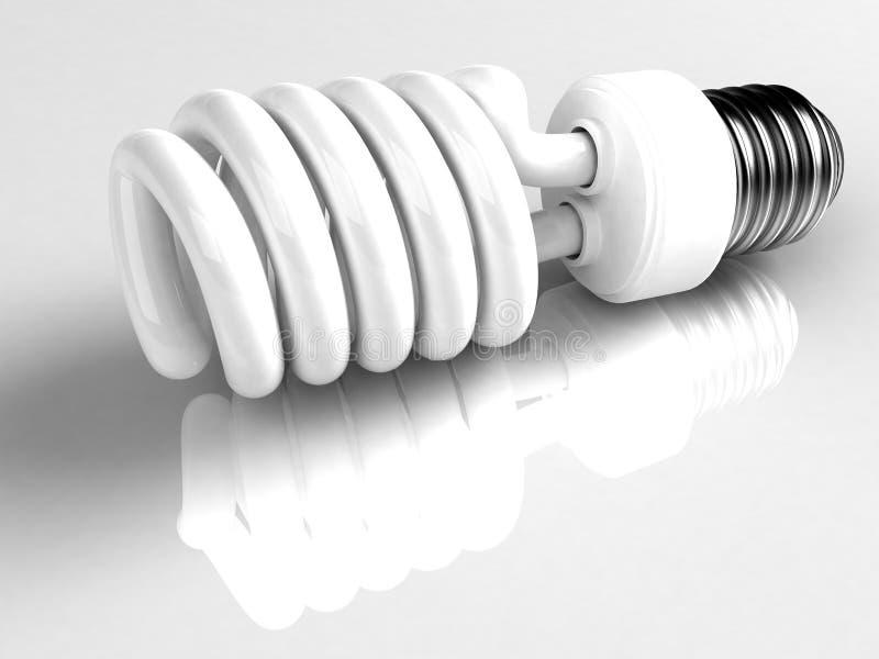 Lâmpada fluorescente compacta ilustração stock
